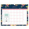 <strong>Blue Sky®</strong><br />Day Designer Academic Year Wall Calendar, 15 x 12, Navy/Floral, 2021-2022