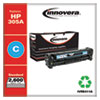 <strong>Innovera®</strong><br />Remanufactured Cyan Toner, Replacement for HP 305A (CE411A), 2,600 Page-Yield