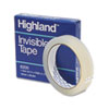 """Highland™ Invisible Permanent Mending Tape, 3/4"""" x 2592"""", 3"""" Core, Clear MMM6200342592"""