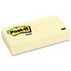 Post-it® Notes Original Pads in Canary Yellow, 3 x 3, Lined, 100-Sheet, 6/Pack MMM6306PK