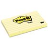 Post-it® Notes Original Pads in Canary Yellow, 3 x 5, Lined, 100-Sheet, 12/Pack MMM635YW