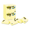 Post-it® Notes Original Pads in Canary Yellow, 1 1/2 x 2, 90-Sheet, 24/Pack MMM65324VADB