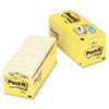 Post-it® Notes Original Pads in Canary Yellow, Cabinet Pack, 3 x 3, 90-Sheet, 18/Pack MMM65418CP