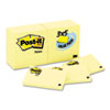 Post-it® Notes Original Pads in Canary Yellow, 3 x 5, 90-Sheet, 24/Pack MMM65524VADB