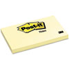 Post-it® Notes Original Pads in Canary Yellow, 3 x 5, 100-Sheet, 12/Pack MMM655YW