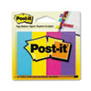 Post-it® Page Flag Markers, Assorted Brights, 50 Strips/Pad, 4 Pads/Pack MMM6714AU