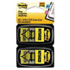 "Post-it® Flags Arrow Message 1"" Page Flags, ""Notarize,"" Yellow, 2 50-Flag Dispensers/Pack MMM680NZ2"