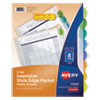 <strong>Avery®</strong><br />Insertable Style Edge Tab Plastic 1-Pocket Dividers, 8-Tab, 11.25 x 9.25, Translucent, 1 Set