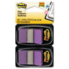Post-it® Flags Standard Page Flags in Dispenser, Purple, 100 Flags/Dispenser MMM680PU2