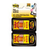 """Post-it® Flags Arrow Message 1"""" Page Flags,  """"Sign Here"""", Yellow, 12 50-Flag Dispensers/Pk MMM680SH12"""
