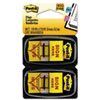 "Post-it® Flags Arrow Message 1"" Page Flags, ""Sign Here"", Yellow, 2 50-Flag Dispensers/Pack MMM680SH2"