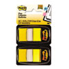 Post-it® Flags Marking Page Flags in Dispensers, Yellow, 12 50-Flag Dispensers/Box MMM680YW12