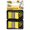 Post-it® Flags Standard Page Flags in Dispenser, Yellow, 100 Flags/Dispenser MMM680YW2