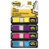 Post-it® Flags Small Page Flags in Dispensers, Four Colors, 35/Color, 4 Dispensers/Pack MMM6834AB