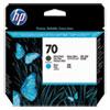 <strong>HP</strong><br />HP 70, (C9404A) Matte Black/Cyan Printhead