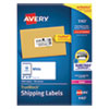 <strong>Avery®</strong><br />Shipping Labels w/ TrueBlock Technology, Laser Printers, 2 x 4, White, 10/Sheet, 100 Sheets/Box