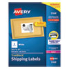 <strong>Avery®</strong><br />Shipping Labels w/ TrueBlock Technology, Laser Printers, 3.33 x 4, White, 6/Sheet, 100 Sheets/Box