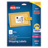 Shipping Labels w/ TrueBlock Technology, Laser Printers, 3.33 x 4, White, 6/Sheet, 25 Sheets/Pack
