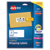 <strong>Avery®</strong><br />Shipping Labels w/ TrueBlock Technology, Laser Printers, 2 x 4, White, 10/Sheet, 25 Sheets/Pack