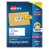 SHIPPING LABELS W/ TRUEBLOCK TECHNOLOGY, LASER PRINTERS, 2 X 4, WHITE, 10/SHEET, 250 SHEETS/BOX