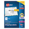 <strong>Avery®</strong><br />Shipping Labels w/ TrueBlock Technology, Laser Printers, 3.5 x 5, White, 4/Sheet, 100 Sheets/Box