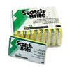 Scotch-Brite™ Industrial Medium-Duty Scrubbing Sponge, 3 1/2 x 6 1/4, 10/Pack MMM74CC