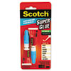 Scotch® Single Use Super Glue, 1/2 Gram Tube, Gel, 2/Pack MMMAD122
