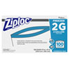 "<strong>Ziploc®</strong><br />Double Zipper Freezer Bags, 2 gal, 2.7 mil, 13"" x 15.5"", Clear, 100/Carton"