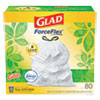 """<strong>Glad®</strong><br />OdorShield Tall Kitchen Drawstring Bags, 13 gal, 0.95 mil, 24"""" x 27.38"""", White, 240/Carton"""
