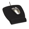 3M Antimicrobial Foam Mouse Pad Wrist Rest, Nonskid Base, Black MMMMW209MB