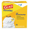 "<strong>Glad®</strong><br />Tall Kitchen Drawstring Trash Bags, 13 gal, 0.72 mil, 24"" x 27.38"", Gray, 100/Box"