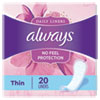 THIN DAILY PANTY LINERS, REGULAR, 20/PACK