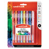 <strong>uni-ball®</strong><br />Stick Gel Pen, Micro 0.38mm, Assorted Ink, Clear Barrel, 8/Set