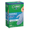 <strong>Curad®</strong><br />Powder-Free Nitrile Exam Gloves, One Size, Blue, 100/Box