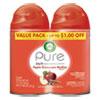 Freshmatic Ultra Spray Refill, Apple Cinnamon Medley, 5.89 oz Aerosol Spray, 2/Pack, 3 Packs/Carton