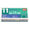 "No. 11 Mini Staples for HD-11FLK, 1/4"" Leg, 3/8""Crown Flat Clinch, 1,000/Box"