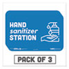 "NON-RETURNABLE. BESAFE MESSAGING EDUCATION WALL SIGNS, 9 X 6, ""HAND SANITIZER STATION"", 3/PACK"