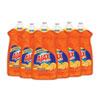 Dish Detergent, Liquid, Antibacterial, Orange, 52 Oz, Bottle, 6/carton