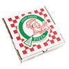 "<strong>PIZZA Box</strong><br />Corrugated Kraft Pizza Boxes, E-Flute, White/Red/Green, 12"" Pizza, 12 x 12 x 1.75, 50/Carton"