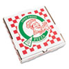 "<strong>PIZZA Box</strong><br />Corrugated Kraft Pizza Boxes, E-Flute, White/Red/Green, 10"" Pizza, 10 x 10 x 1.75, 50/Carton"