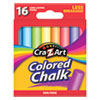 <strong>Cra-Z-Art®</strong><br />Colored Chalk, Assorted Colors, 16/Pack