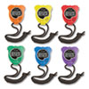 <strong>Champion Sports</strong><br />Water-Resistant Stopwatches, Accurate to 1/100 Second, Assorted Colors, 6/Box