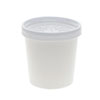 """<strong>Pactiv</strong><br />Paper Round Food Container and Lid Combo, 16 oz, 3.75"""" Diameter x 3.88h"""", White, 250/Carton"""