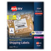 <strong>Avery®</strong><br />Waterproof Shipping Labels with TrueBlock and Sure Feed, Laser Printers, 3.33 x 4, White, 6/Sheet, 50 Sheets/Pack