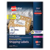 <strong>Avery®</strong><br />Waterproof Shipping Labels with TrueBlock and Sure Feed, Laser Printers, 2 x 4, White, 10/Sheet, 50 Sheets/Pack