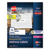 <strong>Avery®</strong><br />Waterproof Address Labels with TrueBlock and Sure Feed, Laser Printers, 1.33 x 4, White, 14/Sheet, 50 Sheets/Pack