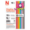 CREATIVE COLLECTION PREMIUM CARDSTOCK, 65 LB, 4.5 X 6.5, ASSORTED STARTER PACK, 72/PACK