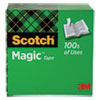 """MAGIC TAPE REFILL, 3"""" CORE, 0.75"""" X 72 YDS, CLEAR"""