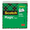 """MAGIC TAPE REFILL, 3"""" CORE, 1"""" X 72 YDS, CLEAR, 3/PACK"""