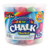 <strong>Cra-Z-Art®</strong><br />Washable Sidewalk Jumbo Chalk in Storage Bucket with Lid and Handle, 20 Assorted Colors